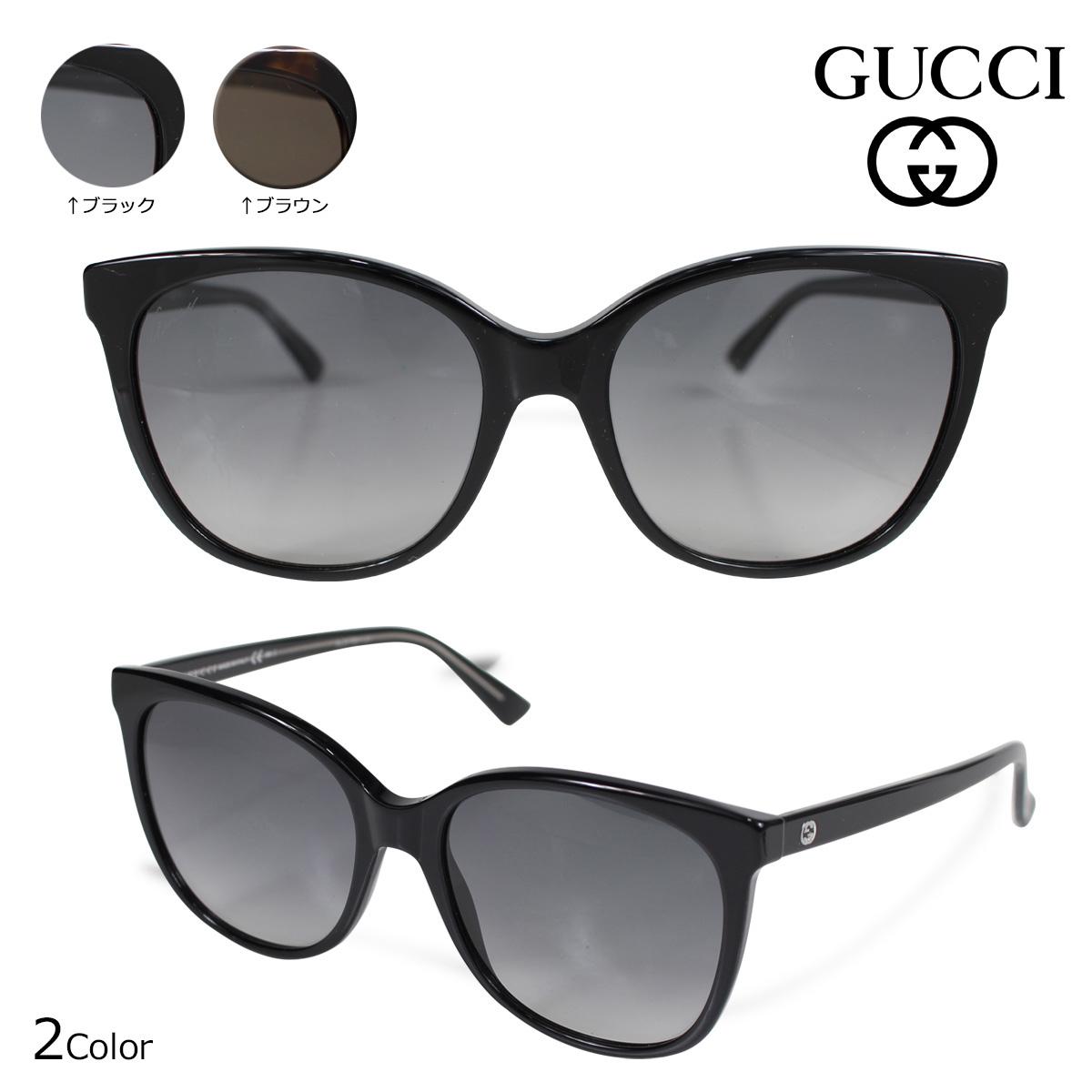 GUCCI 3751S Y6CVK KCLHA グッチ サングラス レディース アイウェア ブラック ブラウン