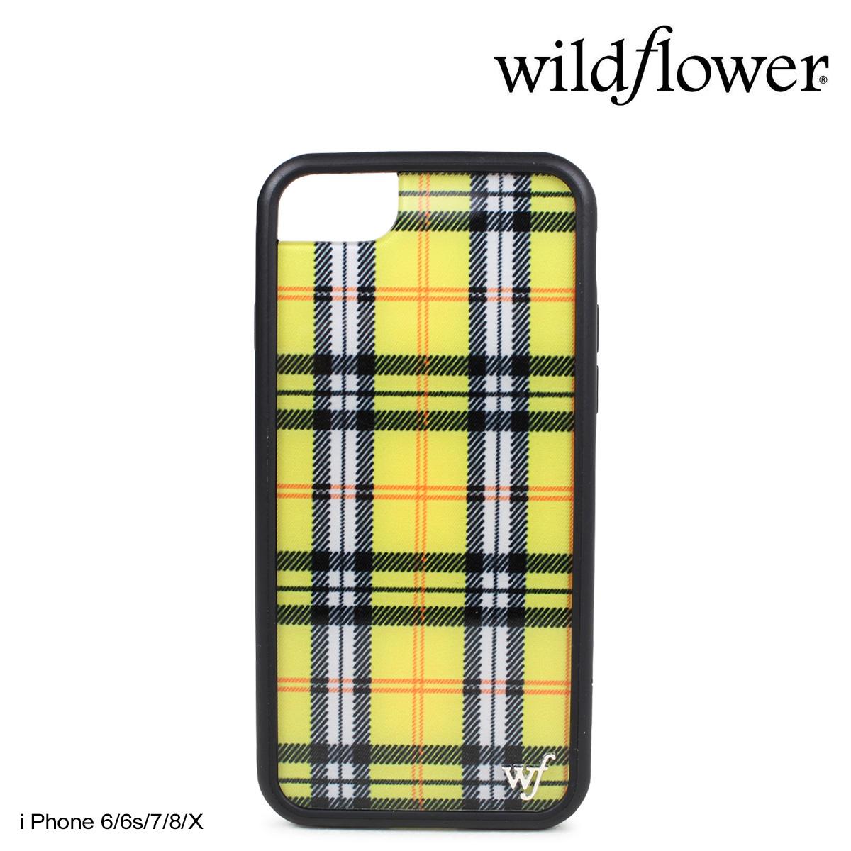 timeless design cf782 7b598 wildflower iPhone8 X 7 iPhone case 6 6s wild flower smartphone eyephone  Lady's check yellow YPLA