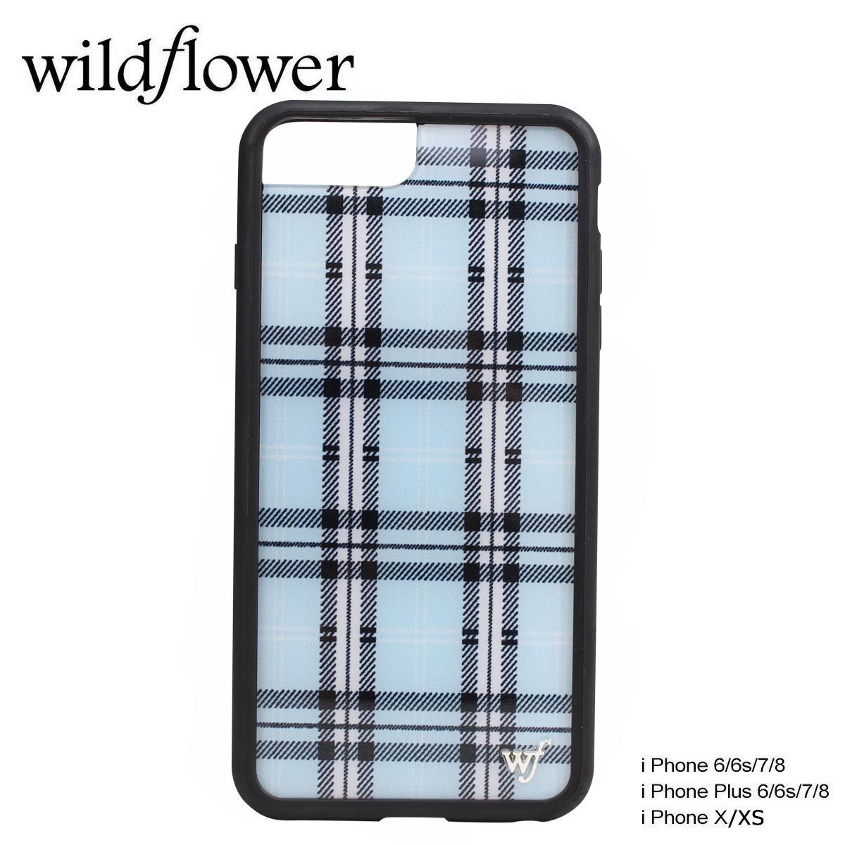 the best attitude 03810 4781b wildflower iPhone8 X 7 iPhone 6 6s Plus wild flower case smartphone  eyephone Lady's check blue BPLA