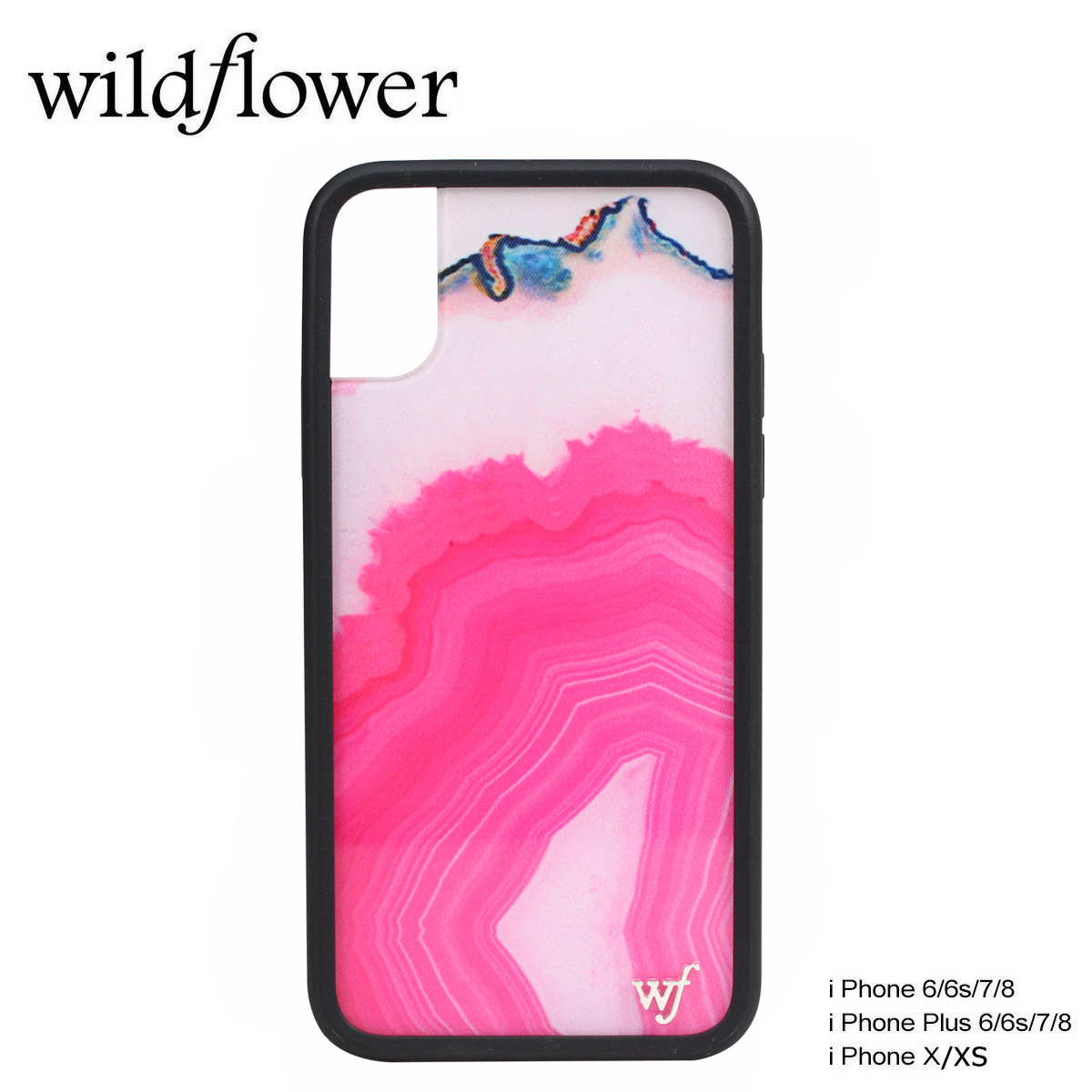 low priced 16d7e 5b1f2 wildflower iPhone8 X 7 iPhone 6 6s Plus wild flower case smartphone  eyephone Lady's marble pink MSTO