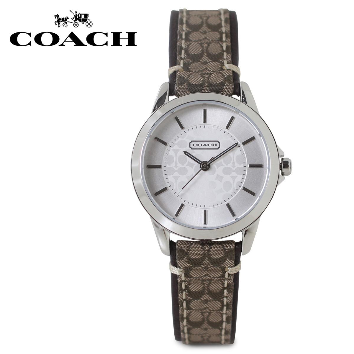 COACH 14501525 コーチ 腕時計 レディース シグネチャー レザー ブラウン