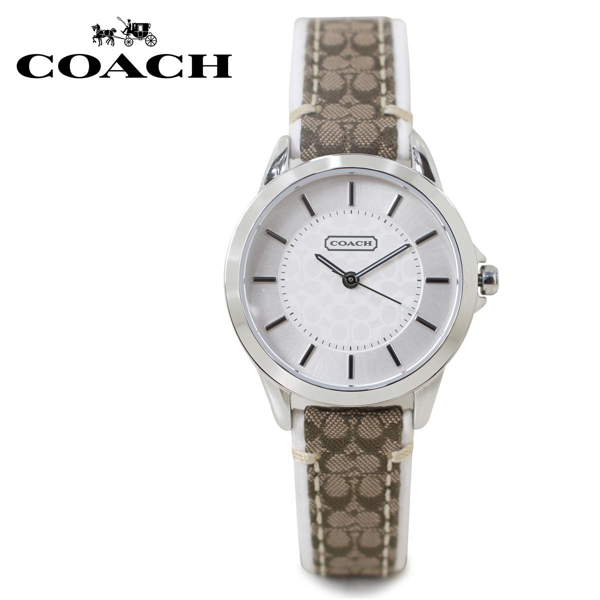 COACH 14501526 コーチ 腕時計 レディース シグネチャー レザー ブラウン
