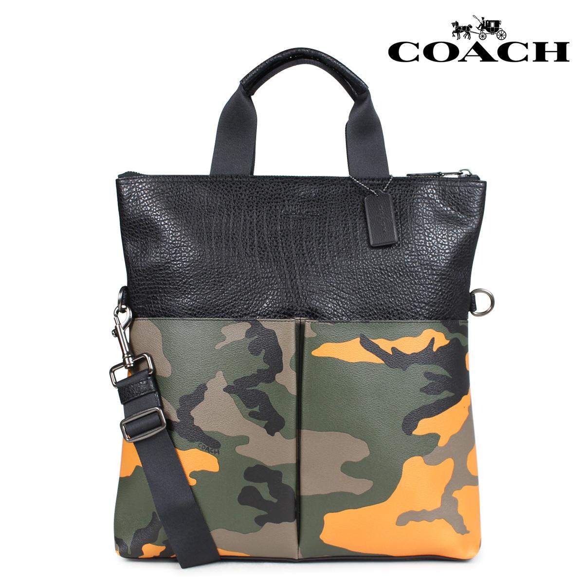 COACH コーチ バッグ トートバッグ メンズ レディース レザー オレンジカモ F24765