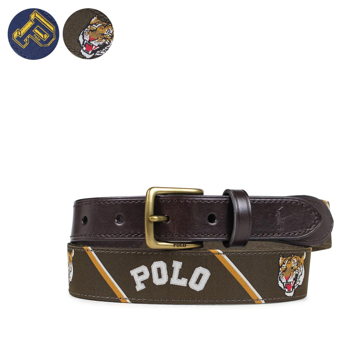 3534cc135a466 POLO RALPH LAUREN 405666043 polo Ralph Lauren belt men leather belt casual  navy olive  7 12 Shinnyu load