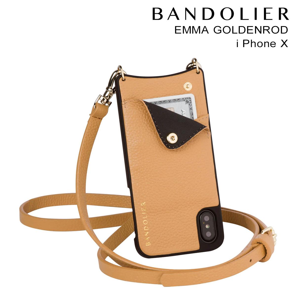 BANDOLIER iPhoneX EMMA GOLDENROD バンドリヤー ケース スマホ アイフォン レザー メンズ レディース