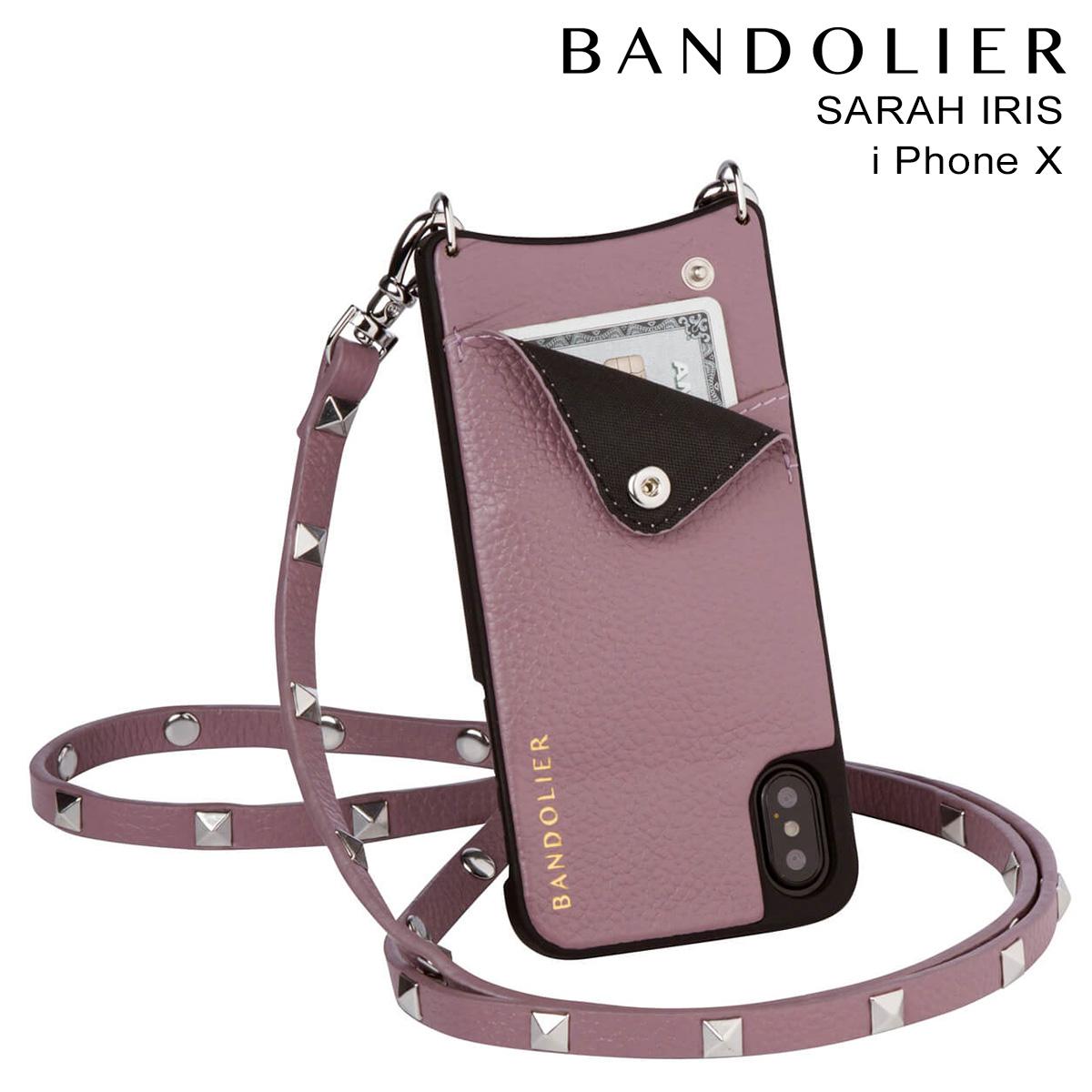 BANDOLIER iPhoneX SARAH IRIS バンドリヤー ケース スマホ アイフォン レザー メンズ レディース