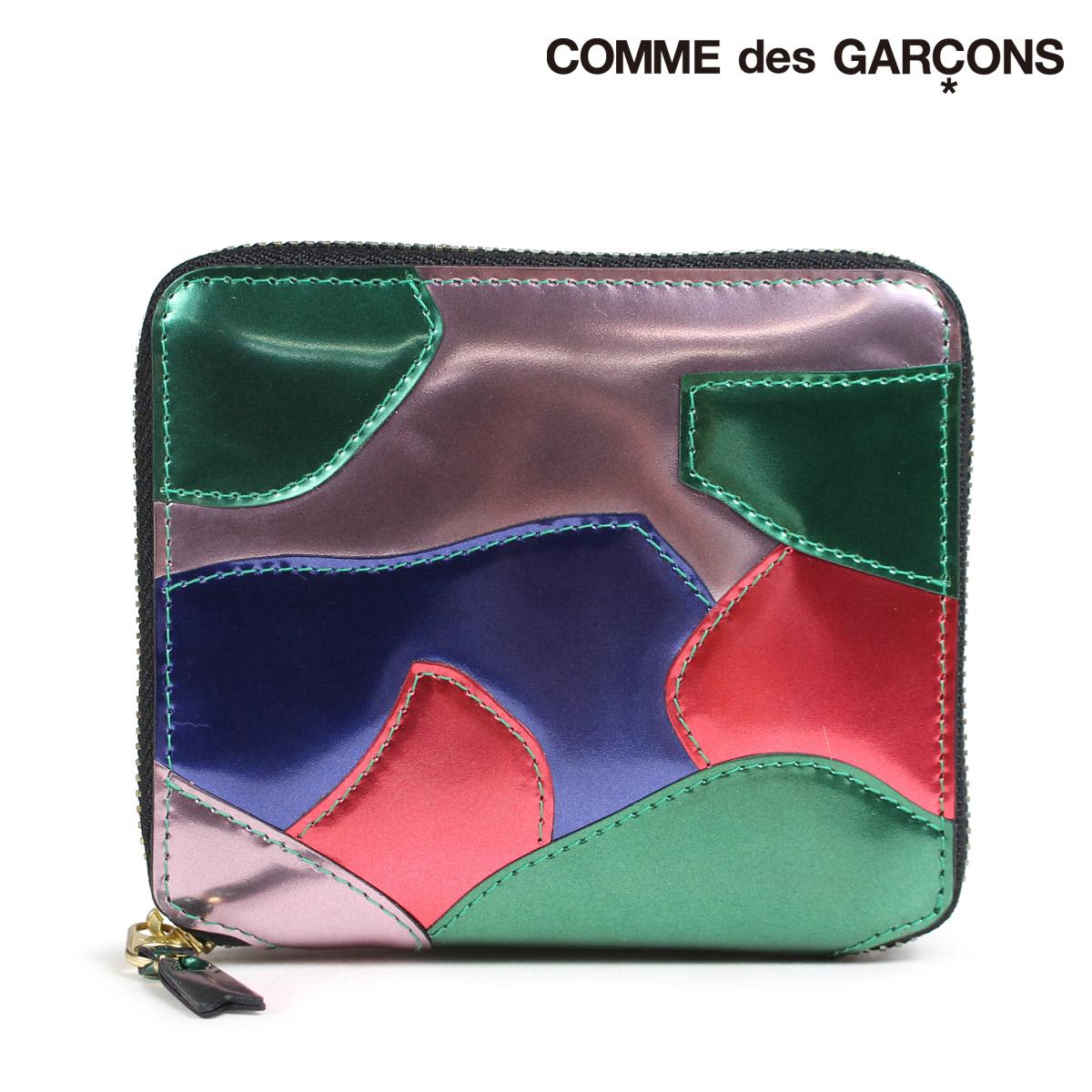 COMME des GARCONS SA2100PM コムデギャルソン 財布 二つ折り メンズ レディース ラウンドファスナー マルチカラー