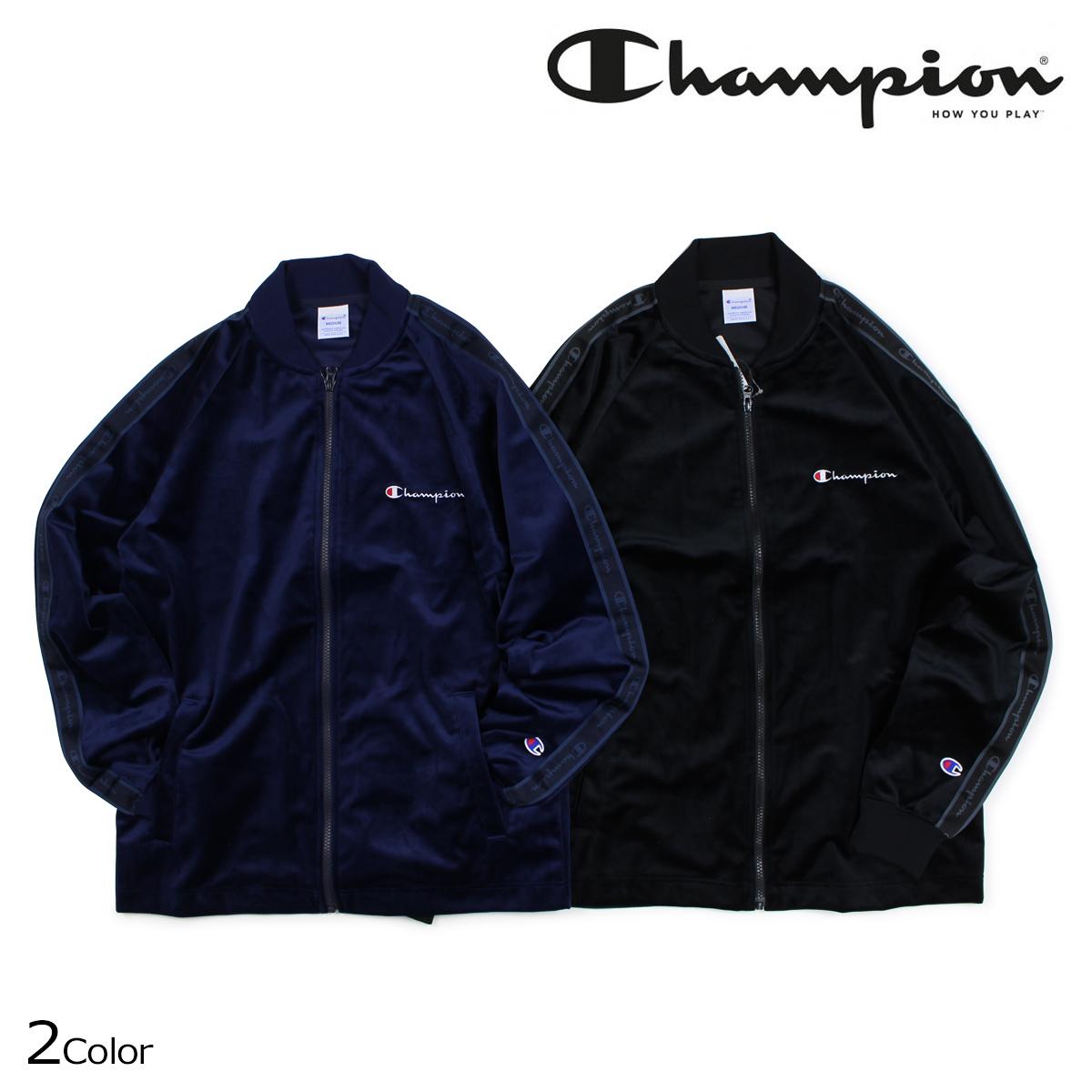 Champion FULL ZIP JACKET チャンピオン ジャージ ジャケット フルジップ メンズ ブラック ネイビー C3-N609