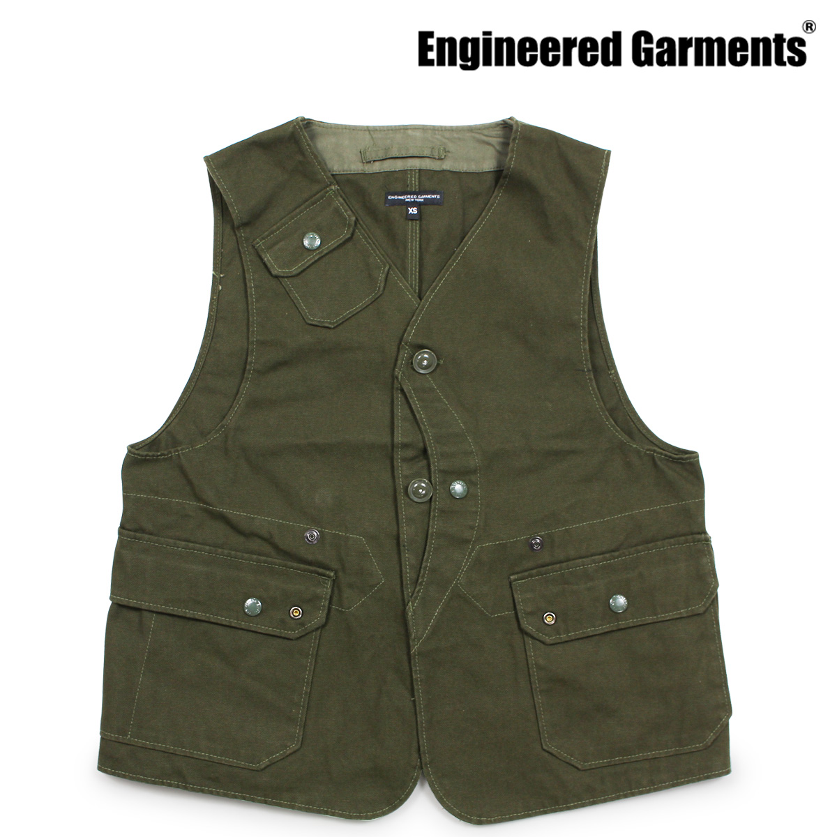 ENGINEERED GARMENTS UPLAND VEST エンジニアドガーメンツ ベスト メンズ ジレ オリーブ