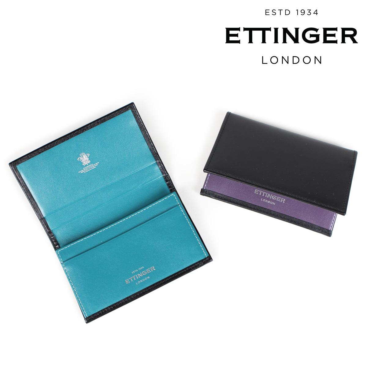 ETTINGER VISITING CARD CASE エッティンガー 名刺入れ カードケース メンズ ブラック ST143JRB