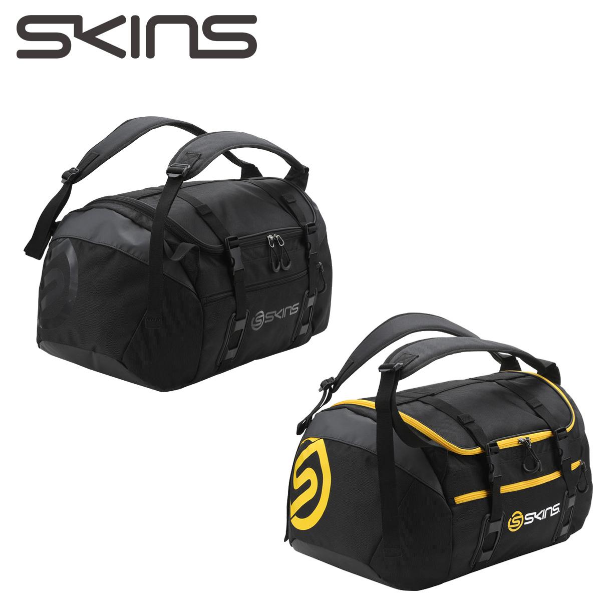 SKINS 45L 2WAY BOSTON BAG スキンズ ボストンバッグ メンズ レディース ブラック SRY7702