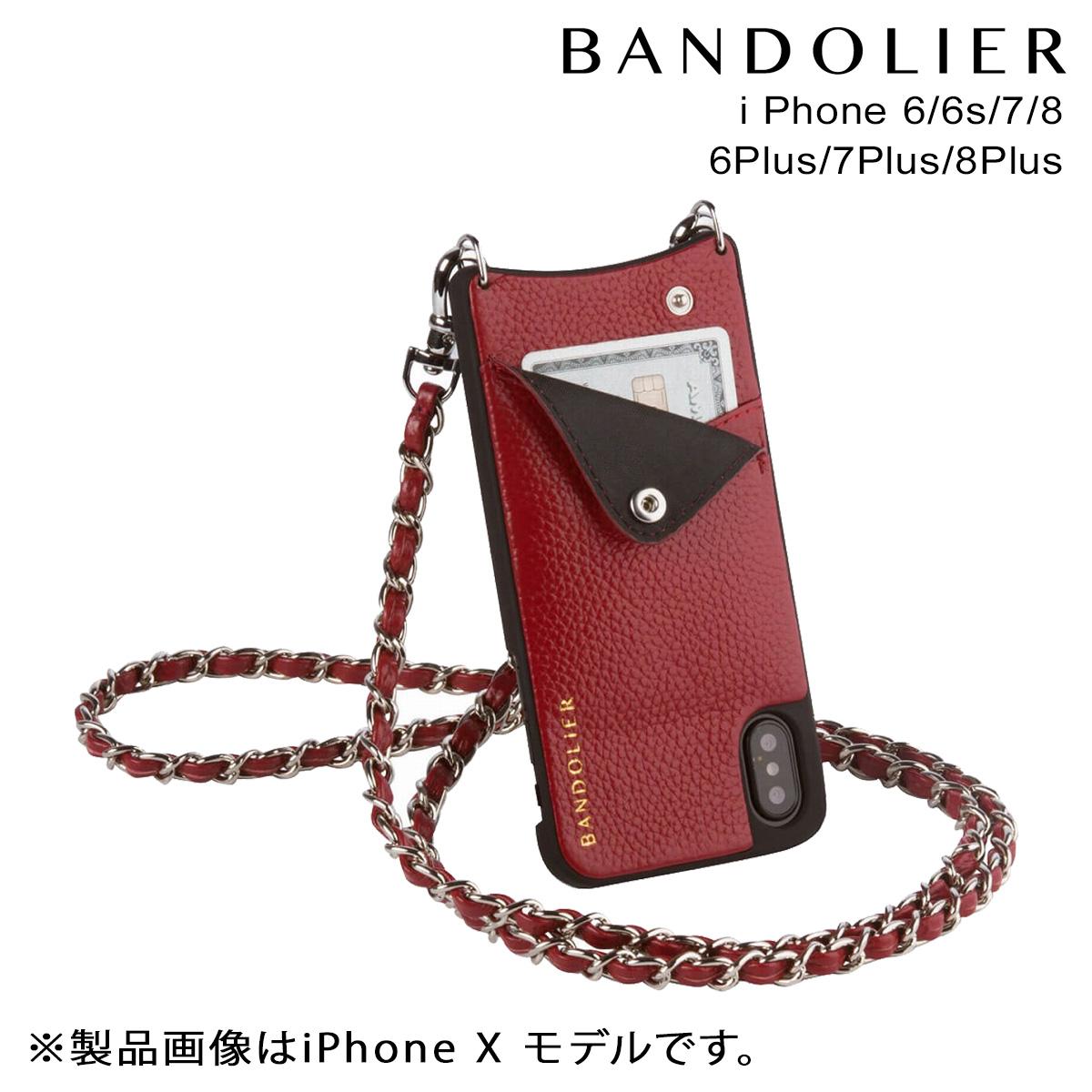 BANDOLIER LUCY CRIMSON バンドリヤー iPhone8 iPhone7 7Plus 6s ケース スマホ アイフォン プラス メンズ レディース