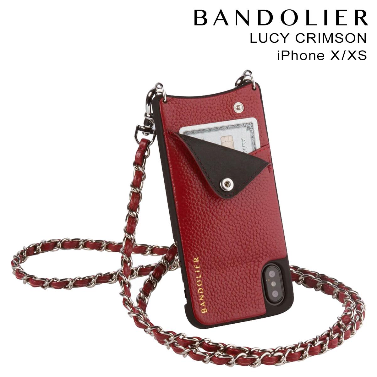 BANDOLIER LUCY CRIMSON バンドリヤー iPhoneXS X ケース スマホ アイフォン レザー メンズ レディース