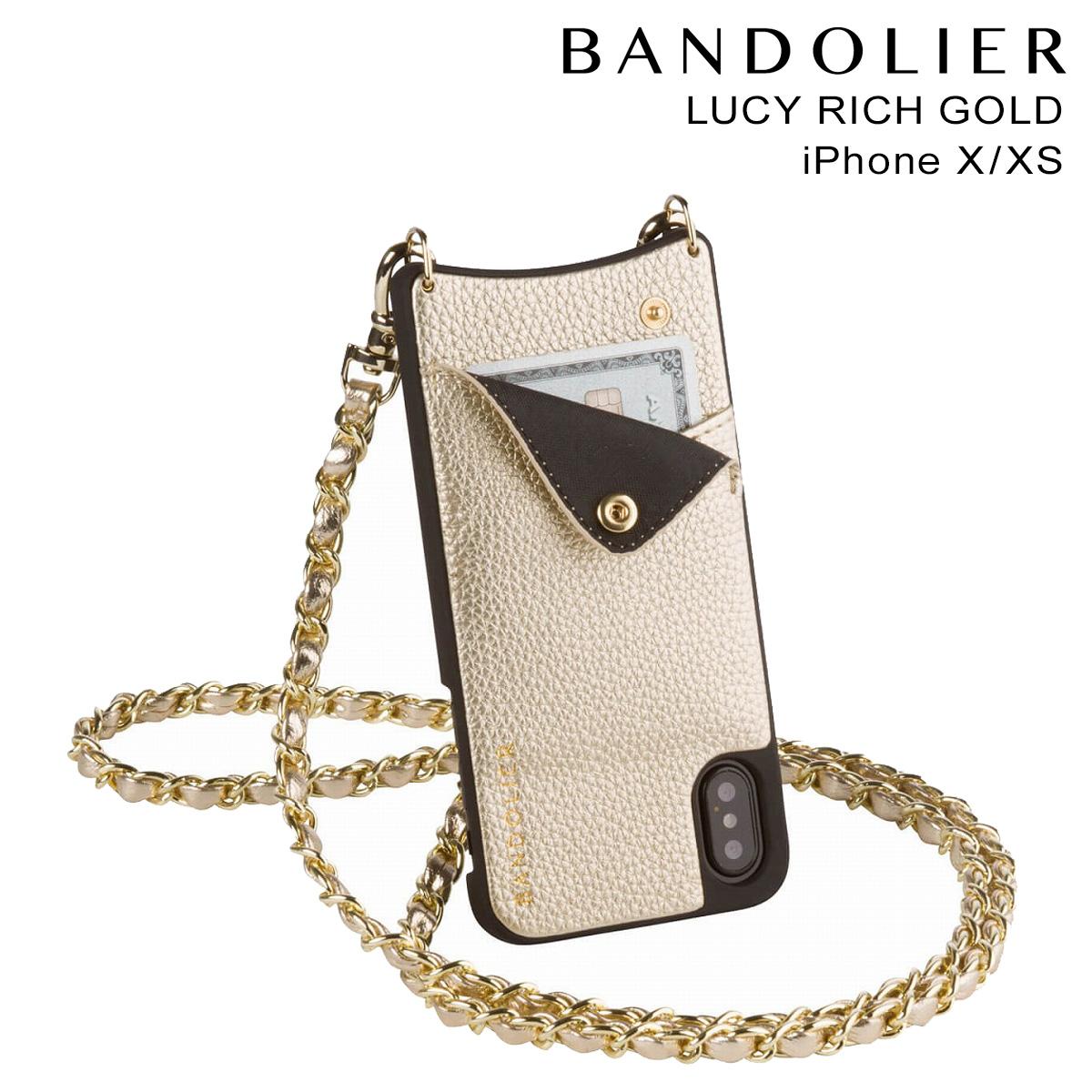 BANDOLIER LUCY RICH GOLD バンドリヤー iPhoneXS X ケース スマホ アイフォン レザー メンズ レディース