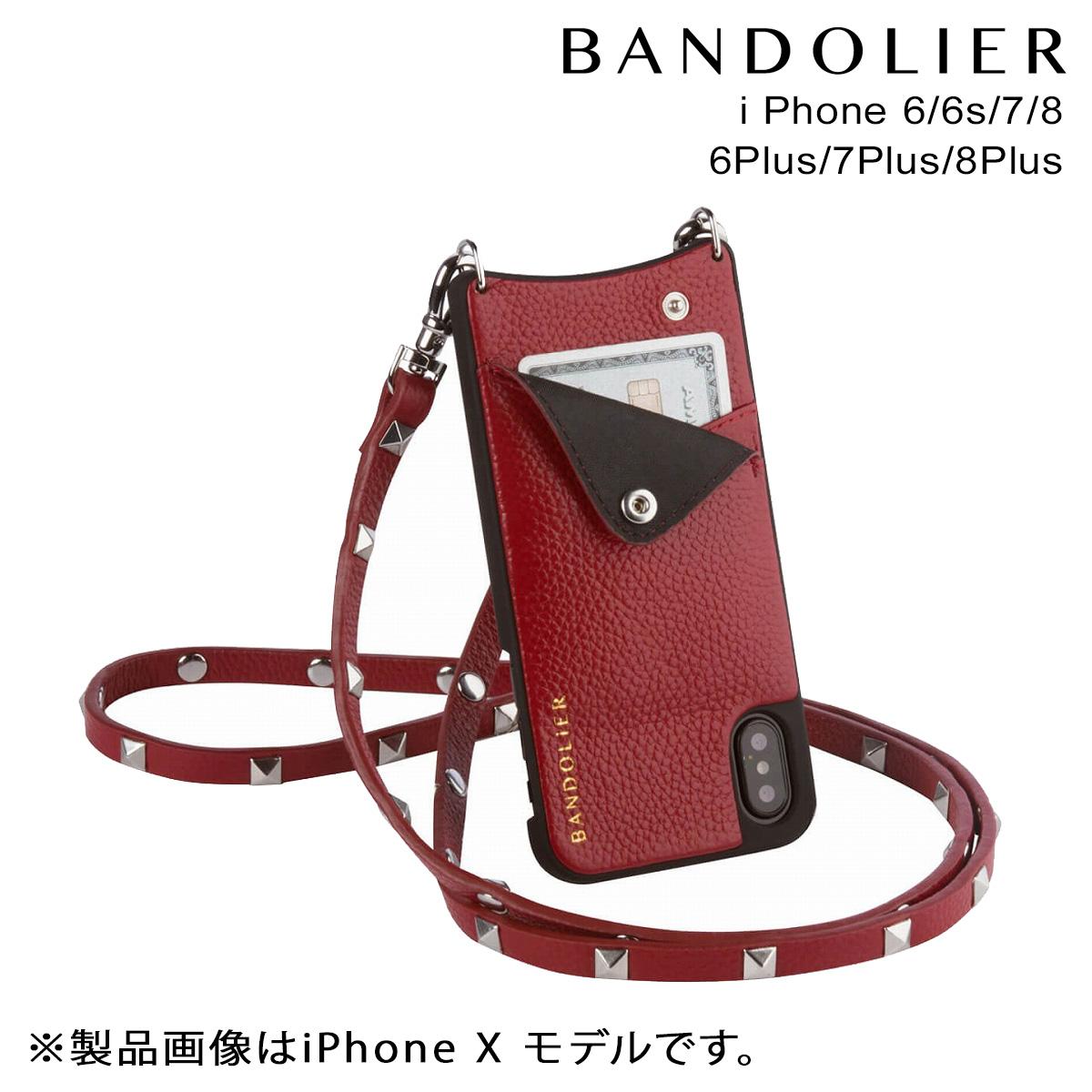 BANDOLIER SARAH CRIMSON バンドリヤー iPhone8 iPhone7 7Plus 6s ケース スマホ アイフォン プラス メンズ レディース