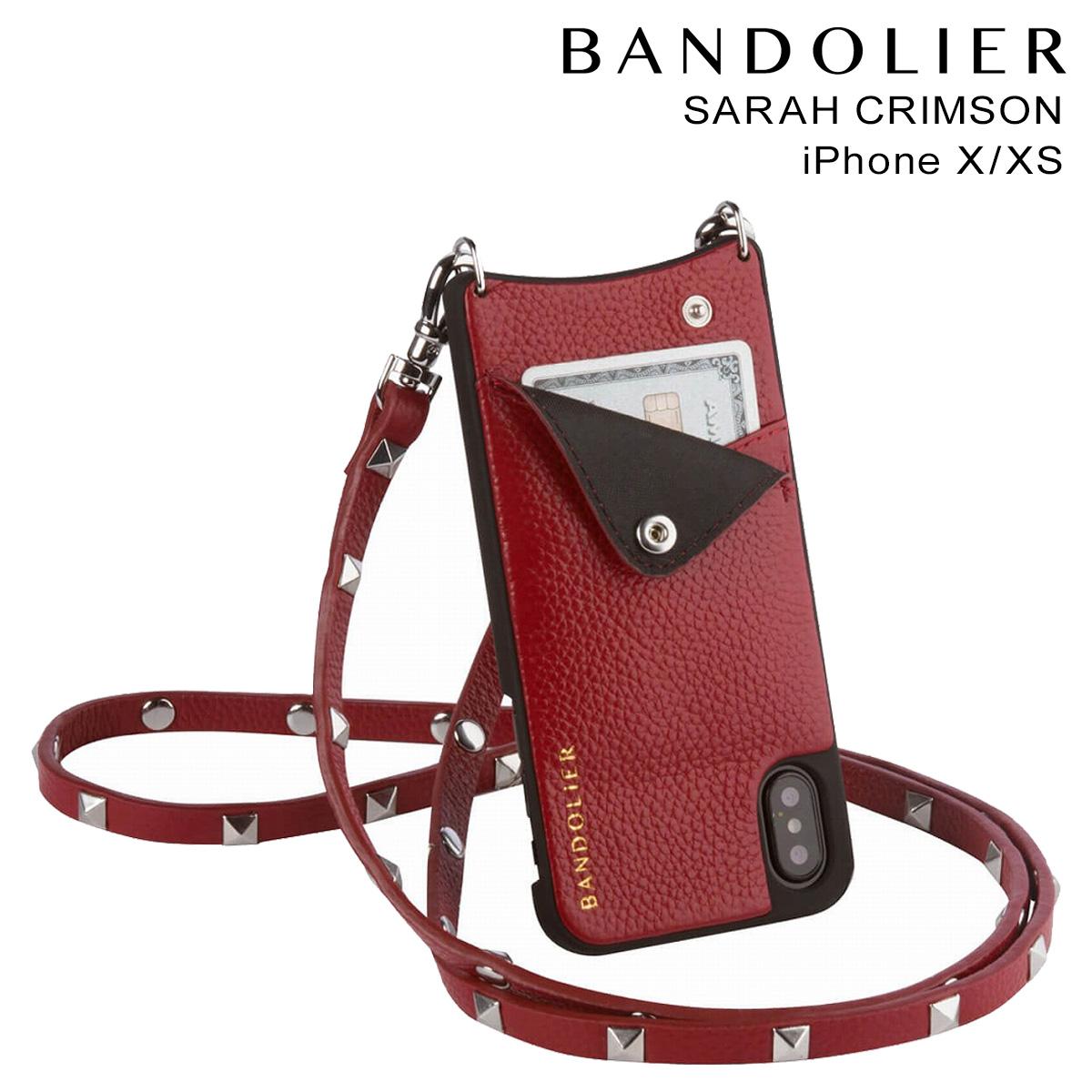 BANDOLIER SARAH CRIMSON バンドリヤー iPhoneXS X ケース スマホ アイフォン レザー メンズ レディース