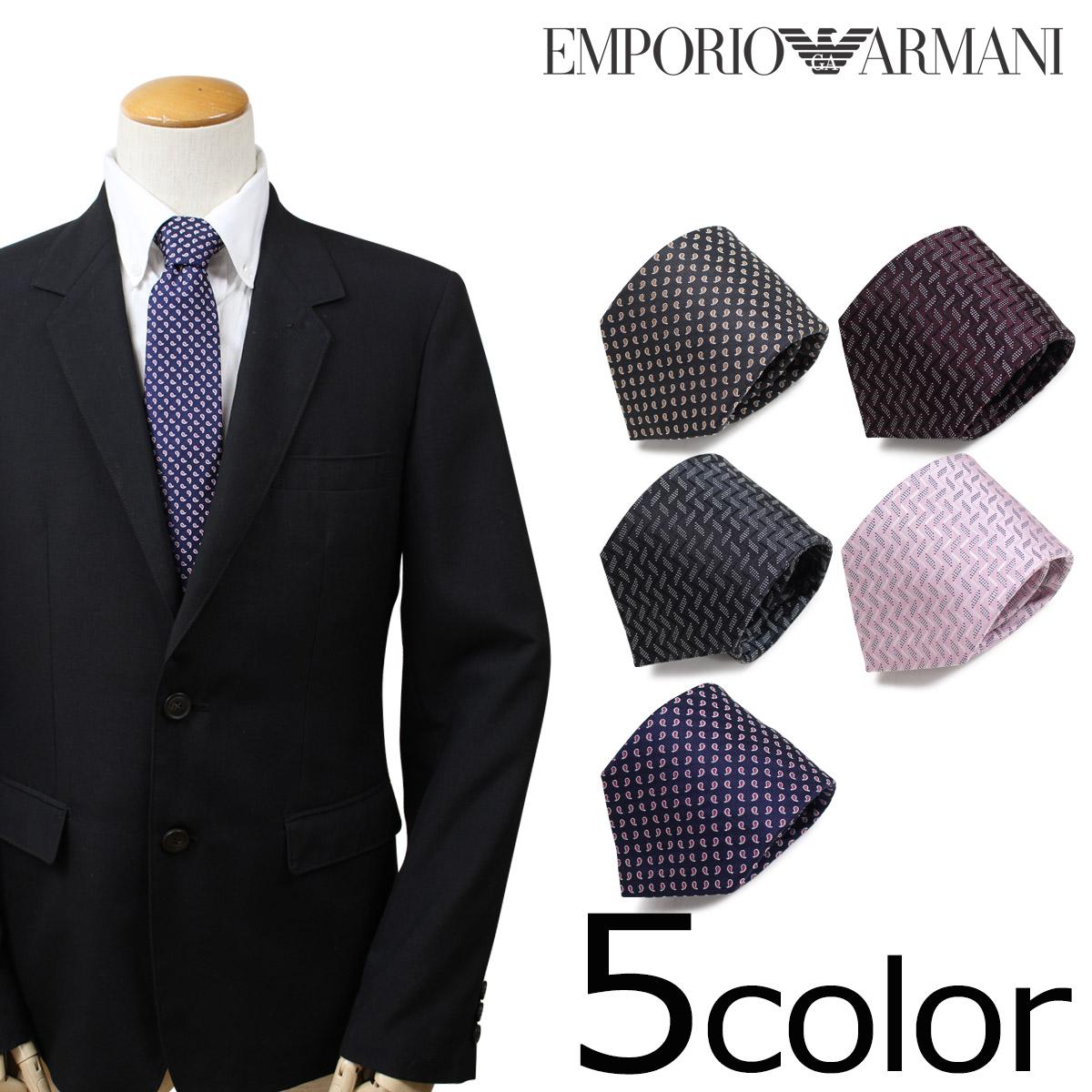 EMPORIO ARMANI エンポリオ アルマーニ ネクタイ イタリア製 シルク ビジネス 結婚式 メンズ [10/29 新入荷]