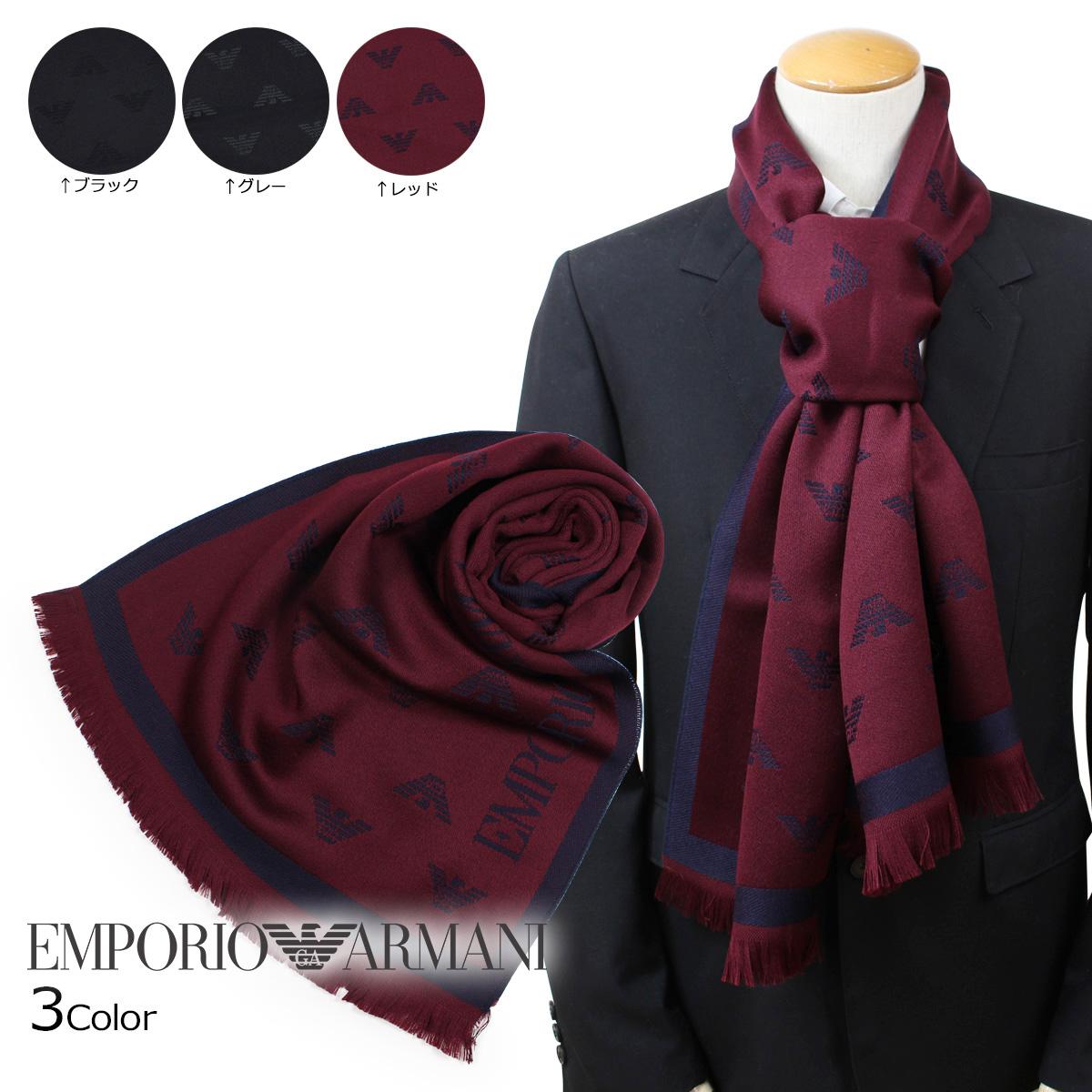 EMPORIO ARMANI 6250098P306 エンポリオ アルマーニ マフラー メンズ ウール イタリア製 ビジネス カジュアル