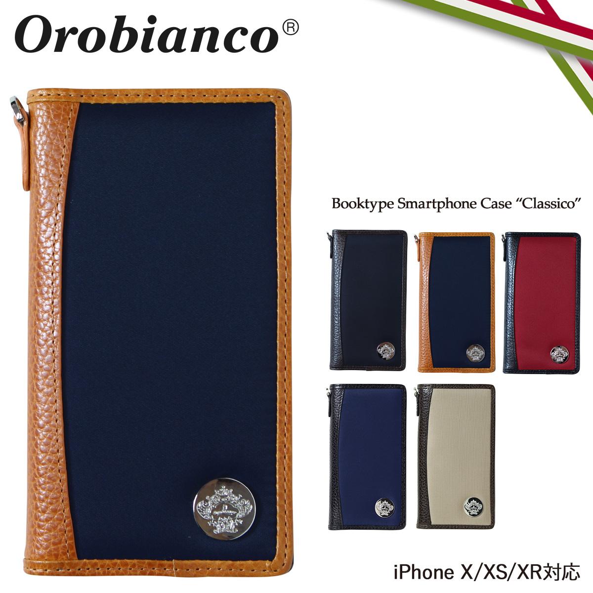 Orobianco CLASSICO オロビアンコ iPhone XR X XS ケース 手帳型 スマホ アイフォン レザー メンズ レディース ORIP-0001