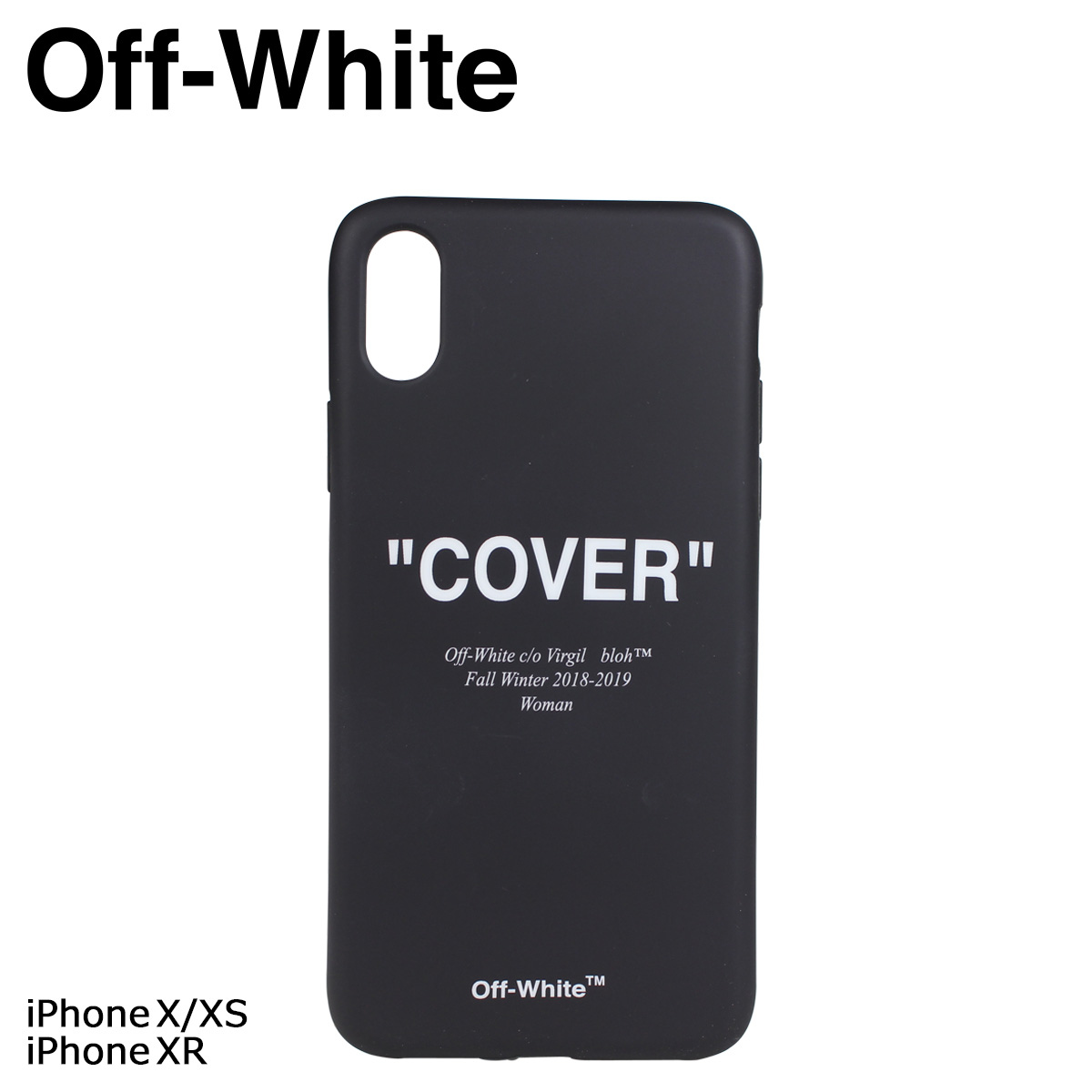 quality design 579c9 4397f Off-white iPhoneXS X QUOTED COVER off-white case smartphone eyephone Lady's  men black OWPA009 29404 [11/20 Shinnyu load]
