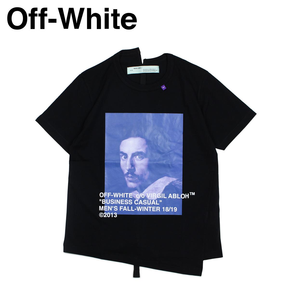 Off-white BERNINI PRINT T-SHIRTS オフホワイト Tシャツ 半袖 メンズ ブラック OMAA032 185011