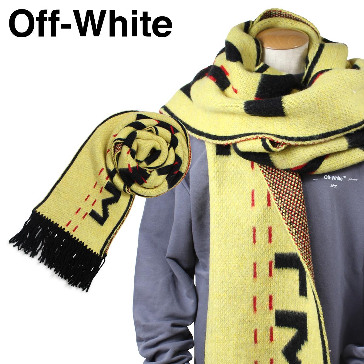 Off-white INDUSTRIAL SCARF オフホワイト マフラー メンズ レディース 大判 ウール イエロー OWMA009 553050