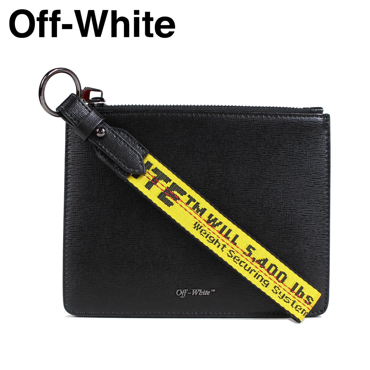 Off-white DOUBLE FLAT POUCH オフホワイト 小銭入れ コインケース ポーチ メンズ レディース ブラック OMNF001 647004