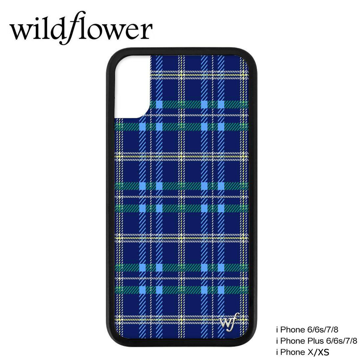 official photos d5a36 5fb19 wildflower iPhone8 X XS iPhone 7 6 6s Plus wild flower case smartphone  eyephone Lady's check blue SKOO