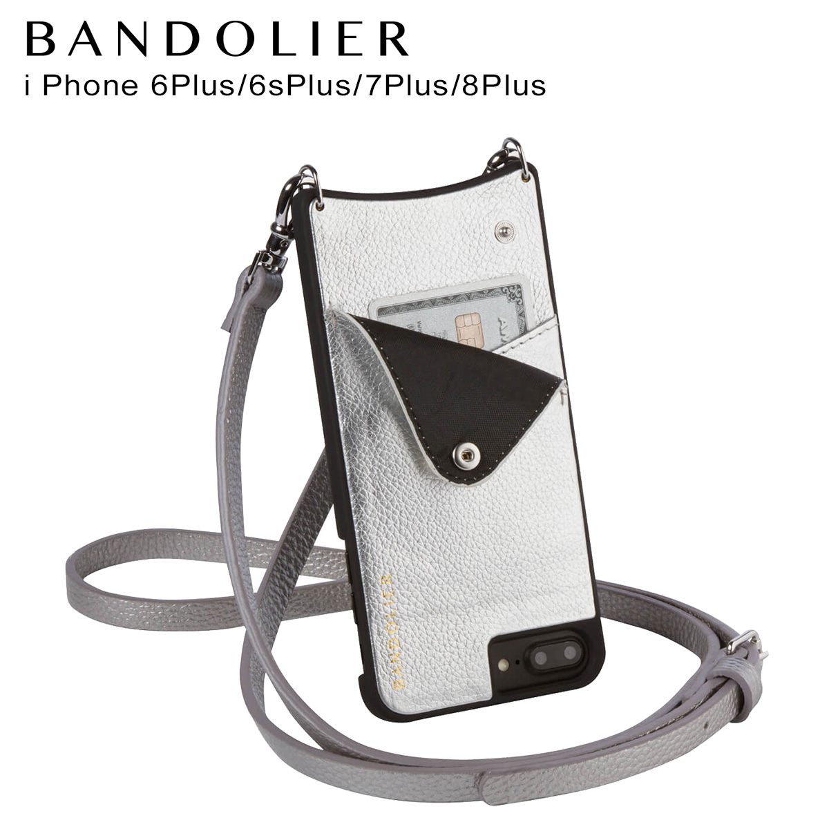 BANDOLIER iPhone8Plus iPhone7Plus 6sPlus EMMA RICH SILVER バンドリヤー ケース スマホ アイフォン プラス メンズ レディース