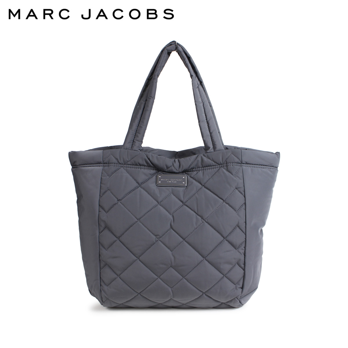 MARC JACOBS QUILTED TOTE マークジェイコブス トートバッグ バッグ マザーズバッグ レディース ダークグレー M0011322