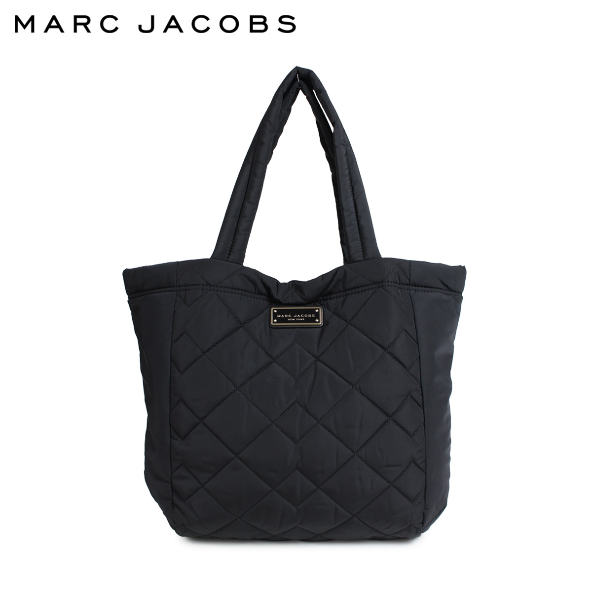 MARC JACOBS QUILTED TOTE マークジェイコブス トートバッグ バッグ マザーズバッグ レディース ブラック M0011322