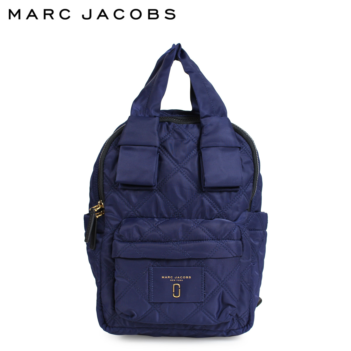 MARC JACOBS QUILTED NYLON SMALL BACKPACK マークジェイコブス リュック バッグ バックパック レディース ネイビー M0011201
