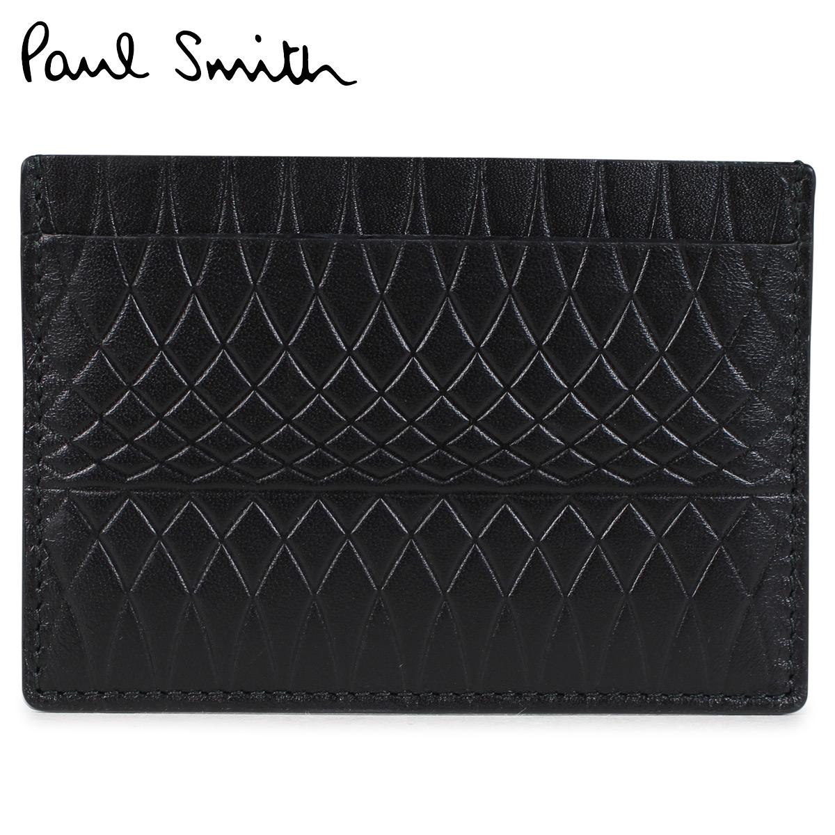 Paul Smith MENS WALLET CREDIT CARD HOLDER NO.9 ポールスミス 名刺入れ メンズ カードケース ブラック ARXA 4768 W787