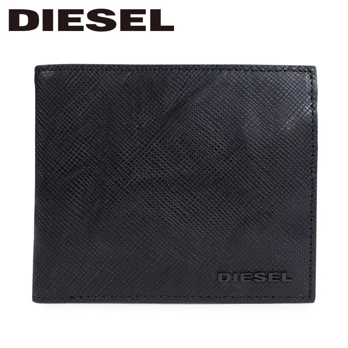 DIESEL SUNBURST HIRESH S ディーゼル 財布 二つ折り メンズ ブラック X05373 P0517