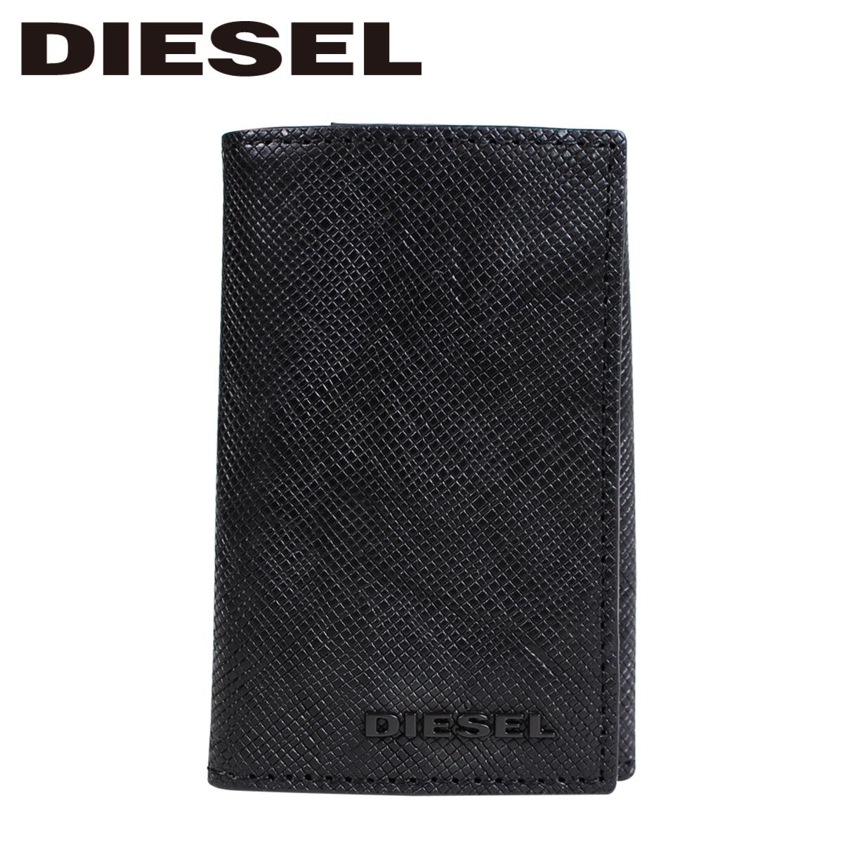 DIESEL SUNBURST KEYCASE O ディーゼル キーケース メンズ 本革 6連 ブラック X05370 P0517