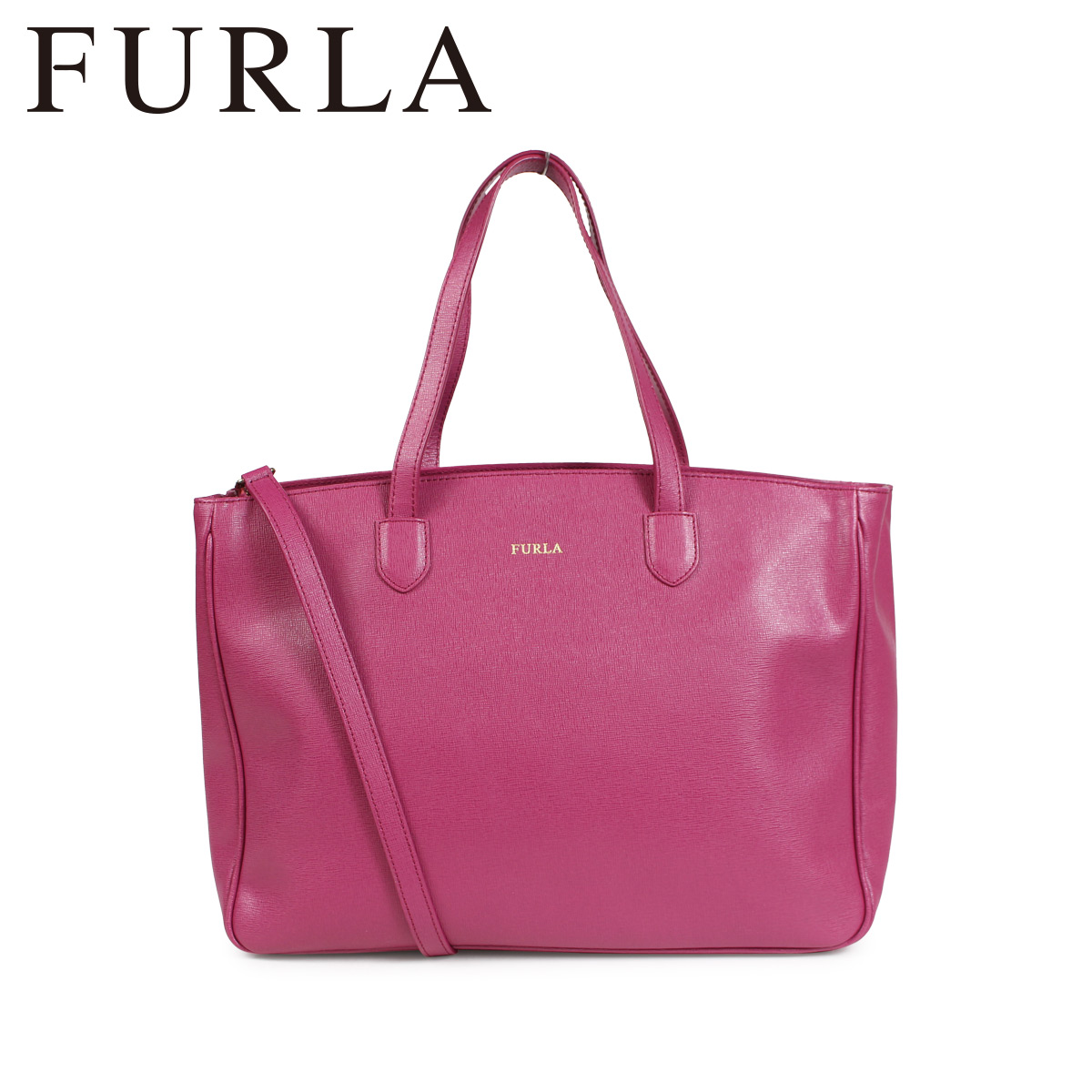 FURLA PAMELA LEATHER TOTE BAG フルラ バッグ トートバッグ レディース ピンク 920603