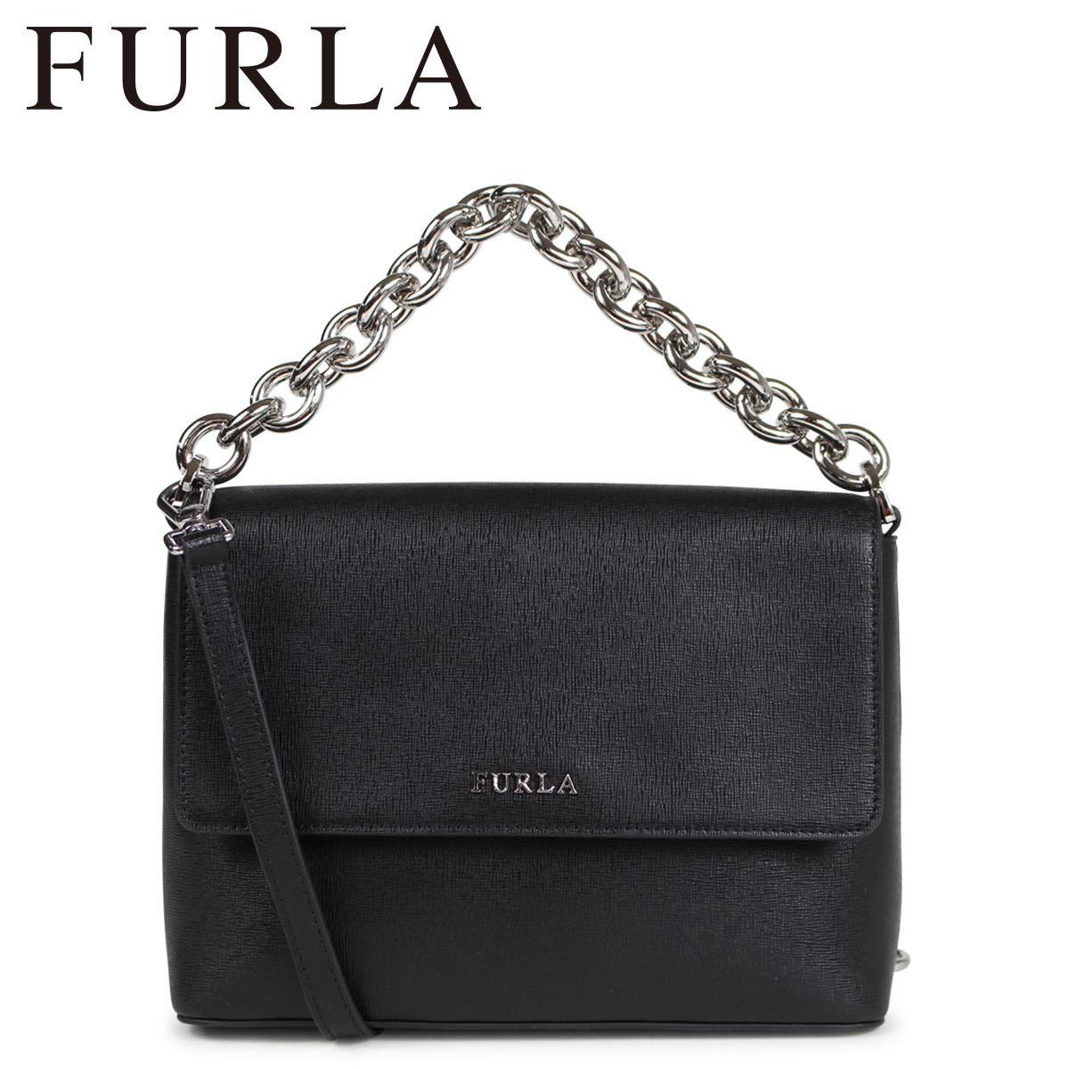 FURLA CHAIN SHOULDER BAG フルラ バッグ ショルダーバッグ レディース ブラック 975495