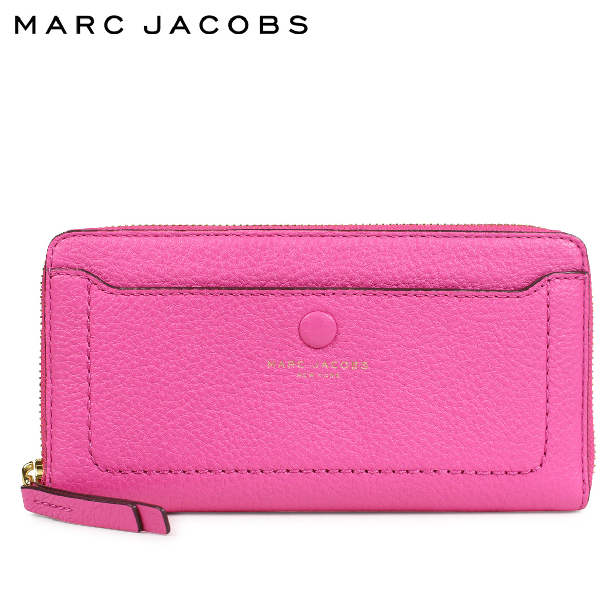 MARC JACOBS LEATHER VERTICAL ZIP-AROUND WALLET マークジェイコブス 財布 長財布 レディース ラウンドファスナー レザー ピンク M0013948