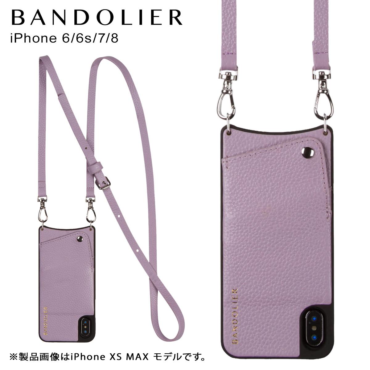 BANDOLIER iPhone 6 6s 7 8 EMMA LILAC バンドリヤー ケース ショルダー スマホ アイフォン レザー メンズ レディース ライラック 10EMM1001 [4/18 再入荷]