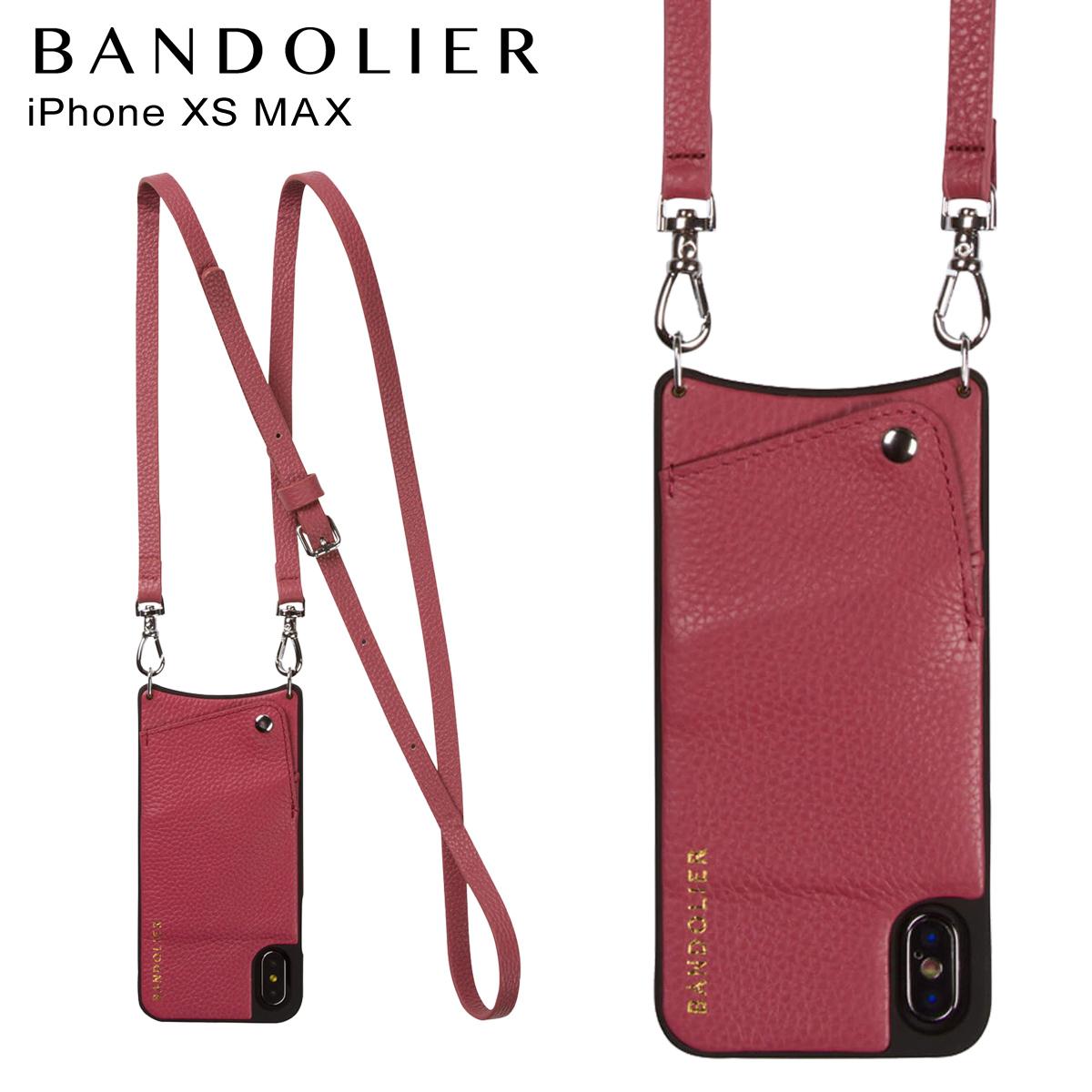 BANDOLIER iPhone XS MAX EMMA MAGENTA RED バンドリヤー ケース ショルダー スマホ アイフォン レザー メンズ レディース マゼンタ レッド 10EMM1001 [予約商品 4月下旬頃入荷予定 再入荷]