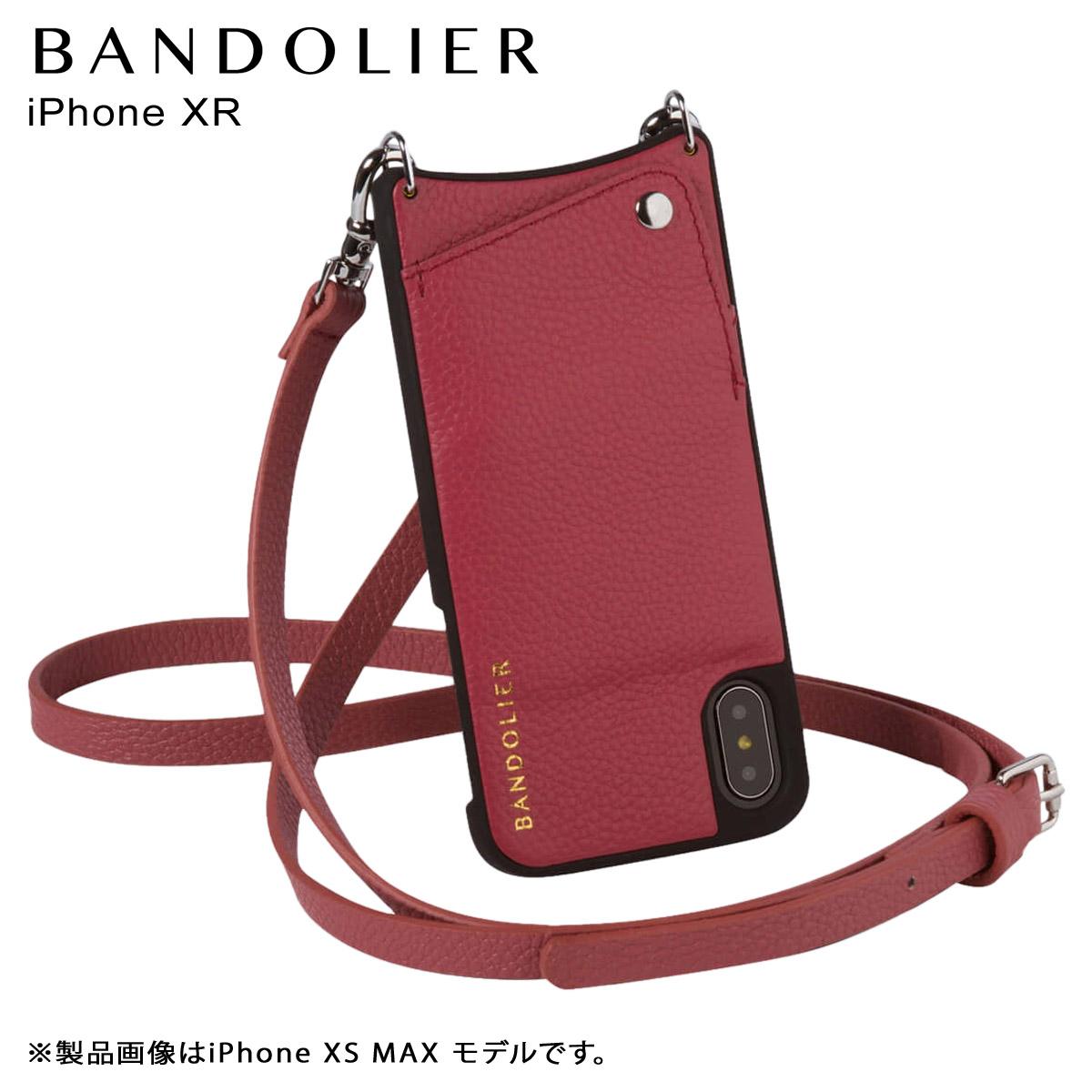 BANDOLIER iPhone XR EMMA MAGENTA RED バンドリヤー ケース ショルダー スマホ アイフォン レザー メンズ レディース マゼンタ レッド 10EMM1001 [4/18 再入荷]