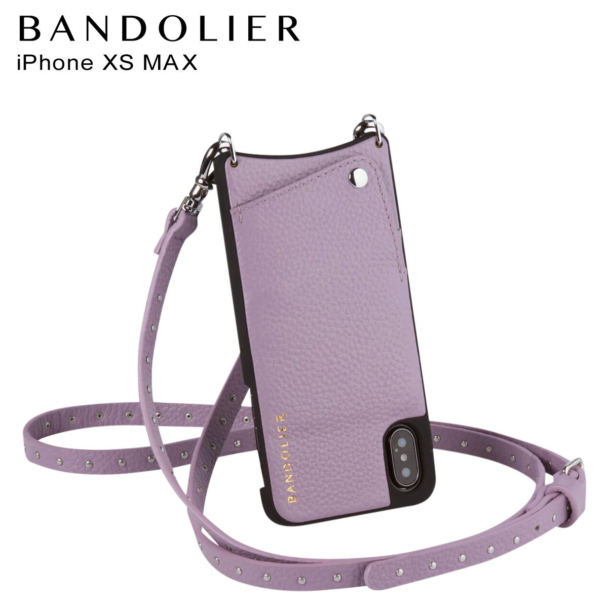 BANDOLIER iPhone XS MAX NICOLE LILAC バンドリヤー ケース ショルダー スマホ アイフォン レザー メンズ レディース ライラック 10NIC1001