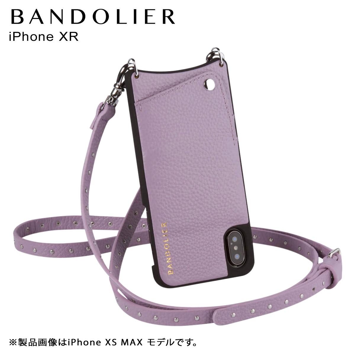 BANDOLIER NICOLE LILAC バンドリヤー iPhone XR ケース ショルダー スマホ アイフォン レザー メンズ レディース ライラック 10NIC1001 [3/18 再入荷]