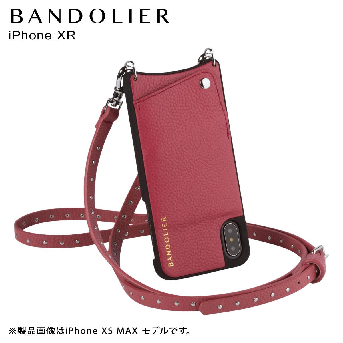 BANDOLIER iPhone XR NICOLE MAGENTA RED バンドリヤー ケース ショルダー スマホ アイフォン レザー メンズ レディース マゼンタ レッド 10NIC1001 [3/18 再入荷]