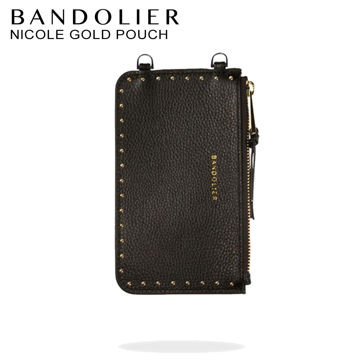 BANDOLIER NICOLE GOLD POUCH バンドリヤー ポーチ レザー メンズ レディース ブラック 20NIC1001