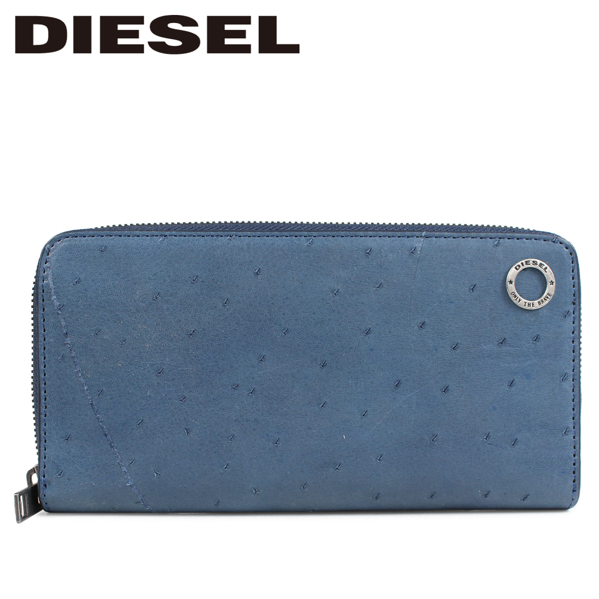 DIESEL KURACAO 24 ZIP ディーゼル 財布 長財布 メンズ ラウンドファスナー ブルー X05824 PR080