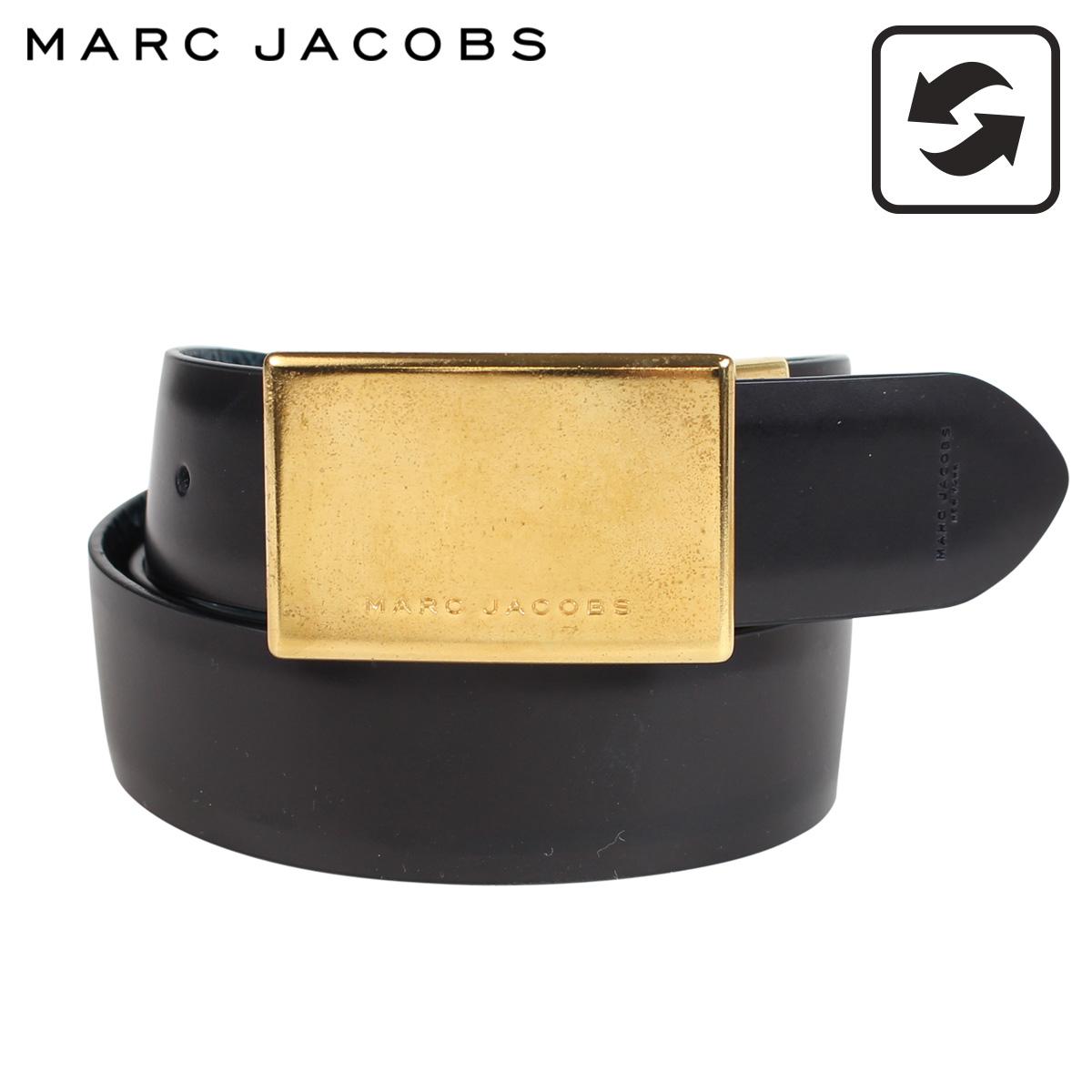 MARC JACOBS MJ REGIMENT BELT マークジェイコブス ベルト レザーベルト メンズ 本革 リバーシブル ブラック ブルー S84TP0158