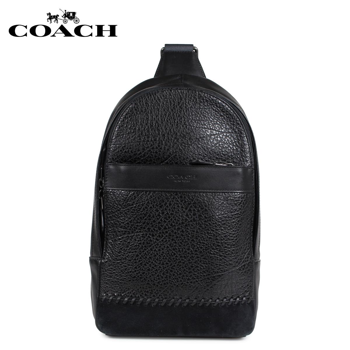 COACH F11236 コーチ バッグ ショルダーバッグ ボディバッグ メンズ レザー ブラック 黒 [3/8 新入荷]