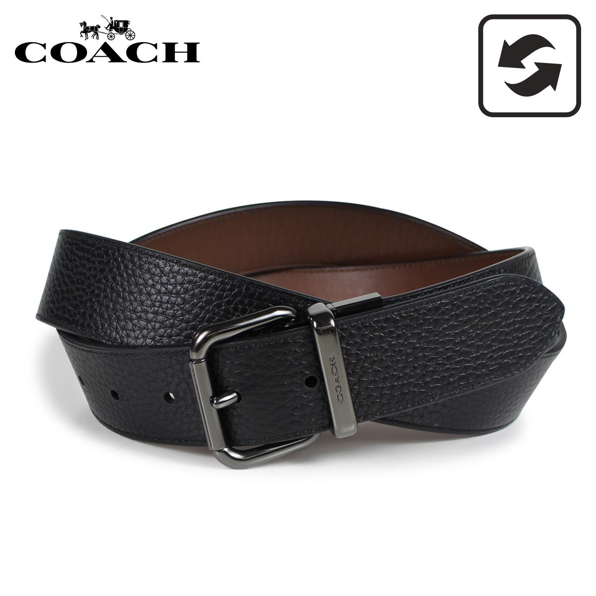 COACH F38727 コーチ ベルト レザーベルト メンズ リバーシブル 本革 レザー ブラック 黒 [3/8 新入荷]