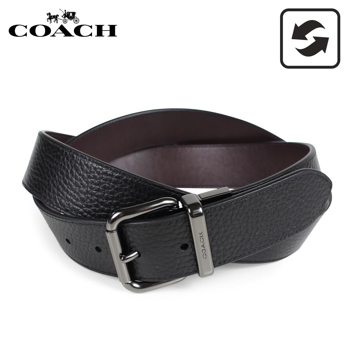 COACH F38727 コーチ ベルト レザーベルト メンズ リバーシブル 本革 レザー 黒 ブラック [3/8 新入荷]